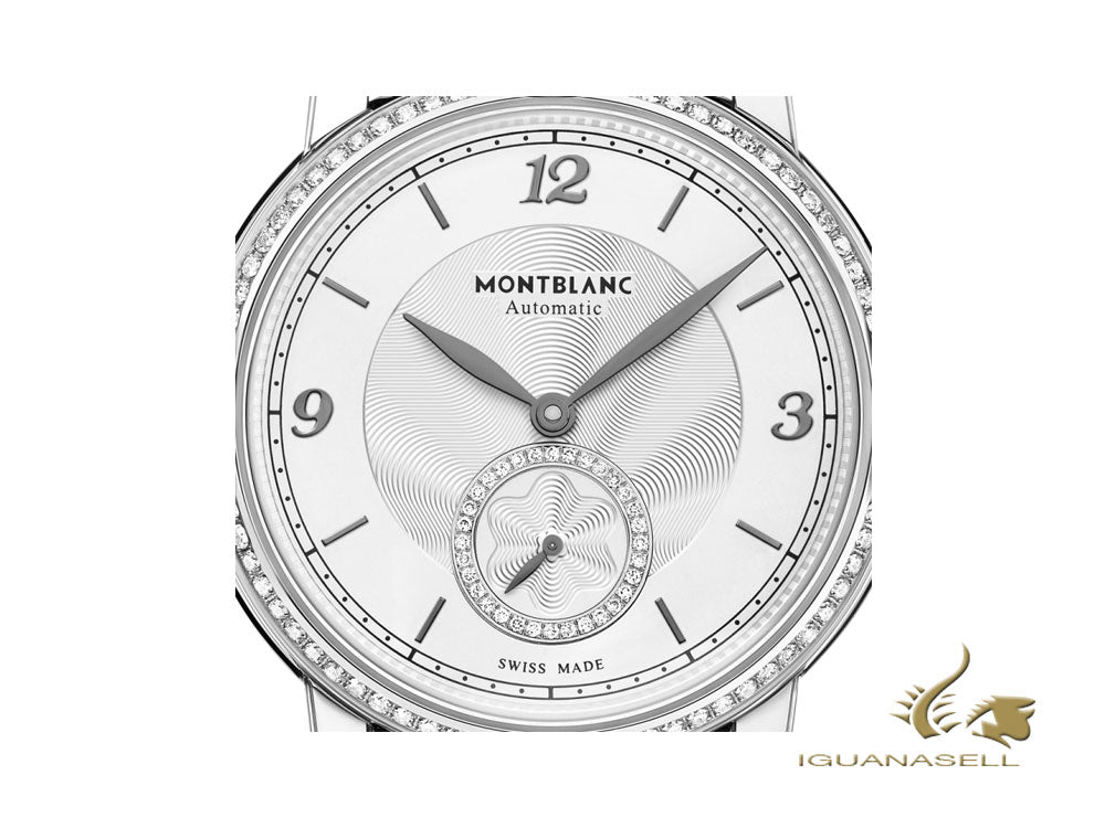 Montblanc Star Legacy Lady Automatic Watch, 36mm, White, Diamond, Cayman, 118508