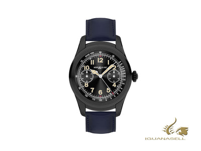 Montblanc Summit Smartwatch, PVD, 46mm, Leather strap, Blue, 117902