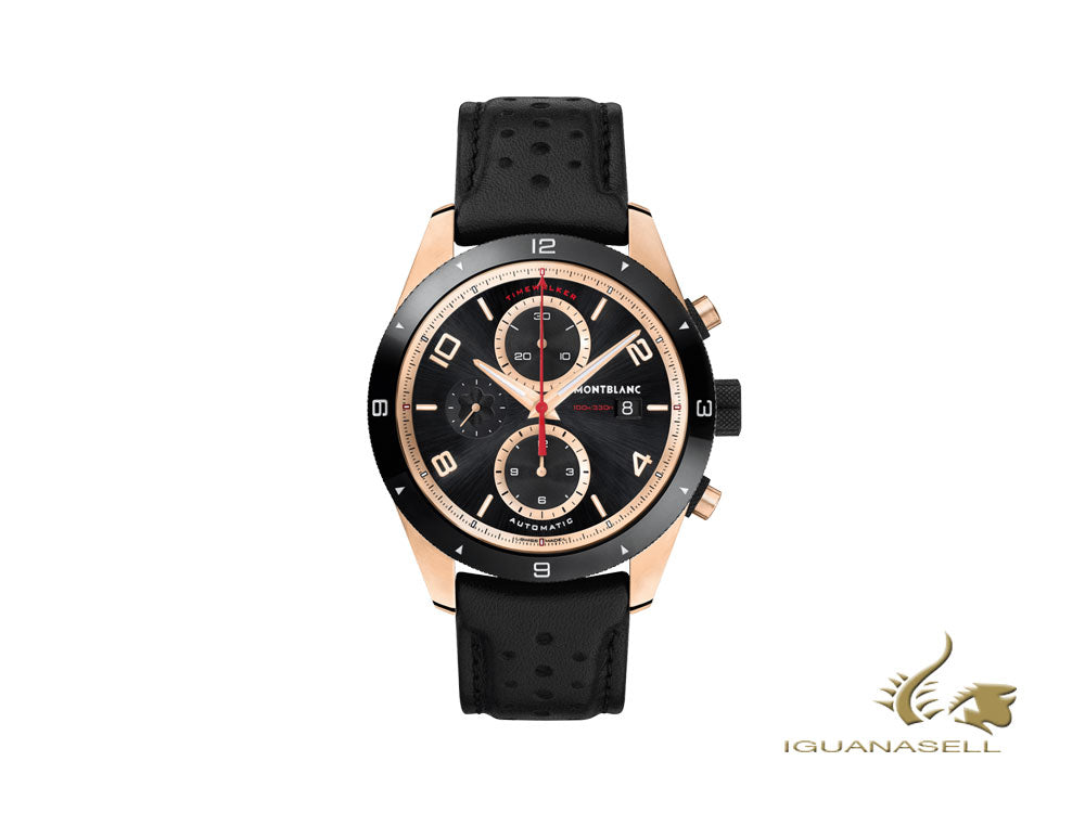 Montblanc TimeWalker Chronograph Automatic Watch, MB 25.07, 18K Red gold, Black