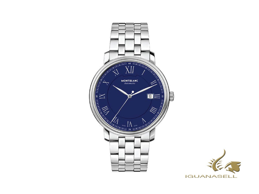Montblanc Tradition Automatic Watch, Blue, 40 mm, Steel bracelet, 117830 Montblanc Automatic Watch