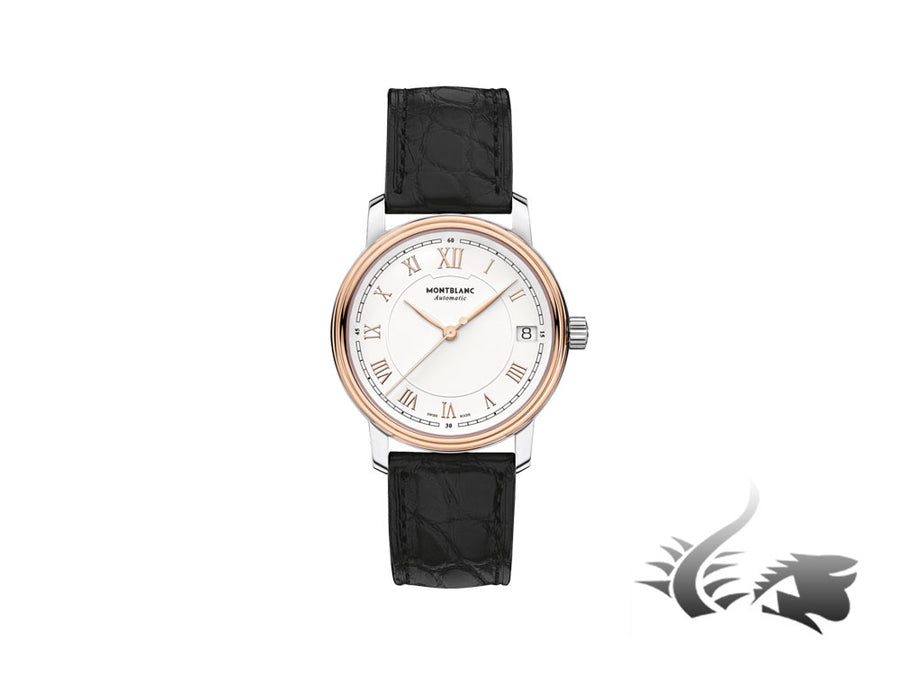 Montblanc Tradition Date Automatic Watch, MB 24.17, 18K Rose gold, 32mm, Cayman Montblanc Automatic Watch