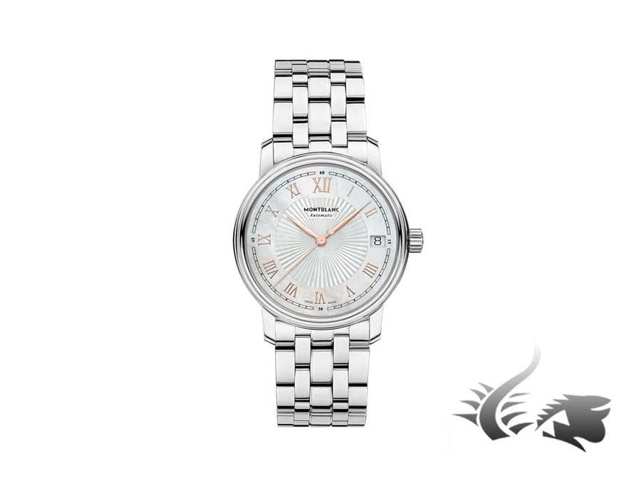 Montblanc Tradition Date Automatic Watch, MB 24.17, Mother of pearl, 114367 Montblanc Automatic Watch