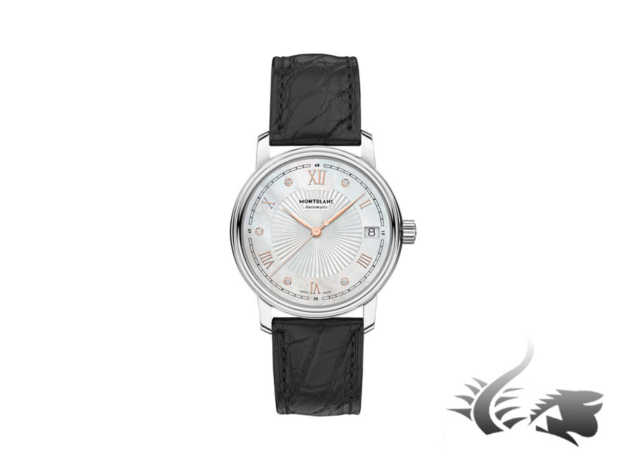 Montblanc Tradition Date Automatic Watch, MB 24.17, Diamonds, 32mm, Cayman Montblanc Automatic Watch