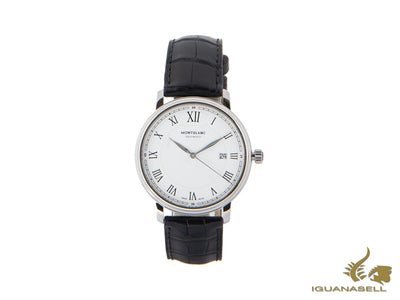 Montblanc Tradition Date Automatic Watch, MB 24.17, White, 40mm, Cayman, 112609 Montblanc Automatic Watch