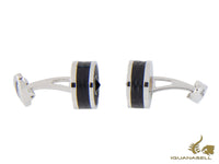 Montegrappa Classic Leather Cufflinks, Leather, Stainless steel, IDOMCLIL