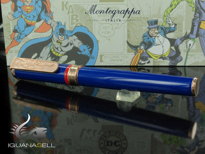 Montegrappa DC-Comics Superman Rollerball pen, Enamel, Rose gold trim, ISDCSRYB