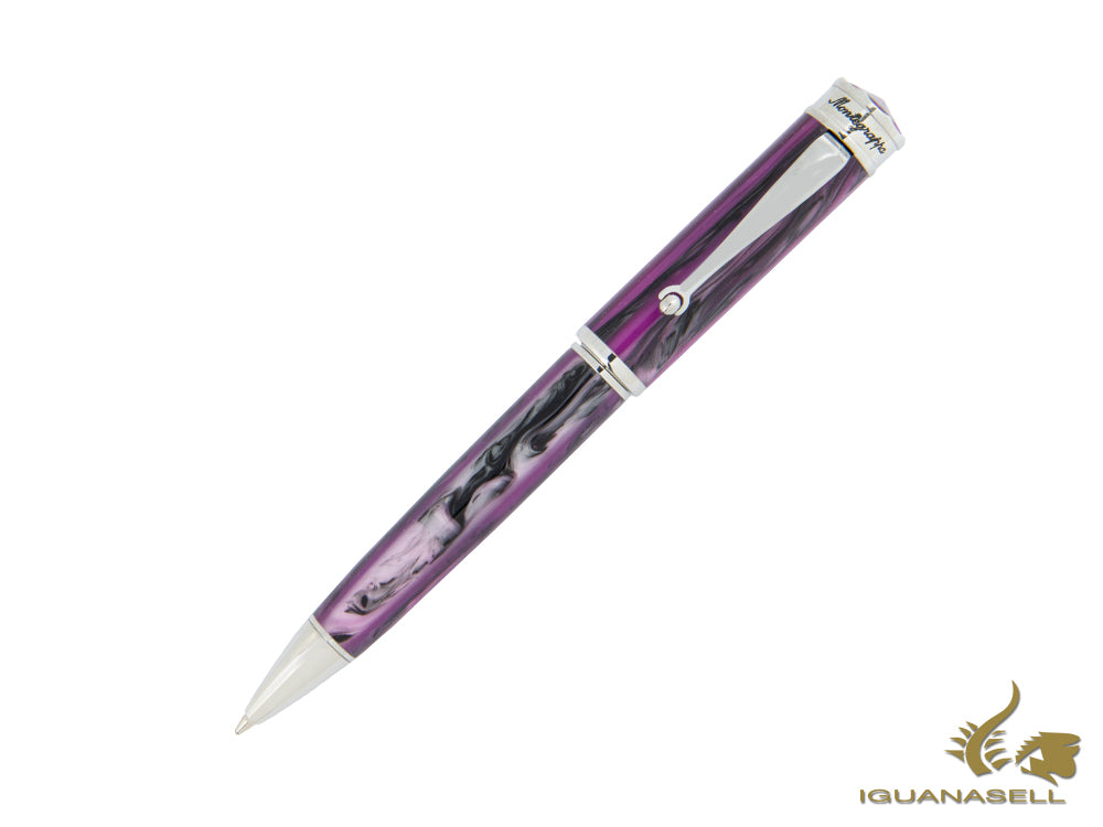 Montegrappa Ducale Murano Ballpoint Pen, Resin, Stainless Steel, Purple
