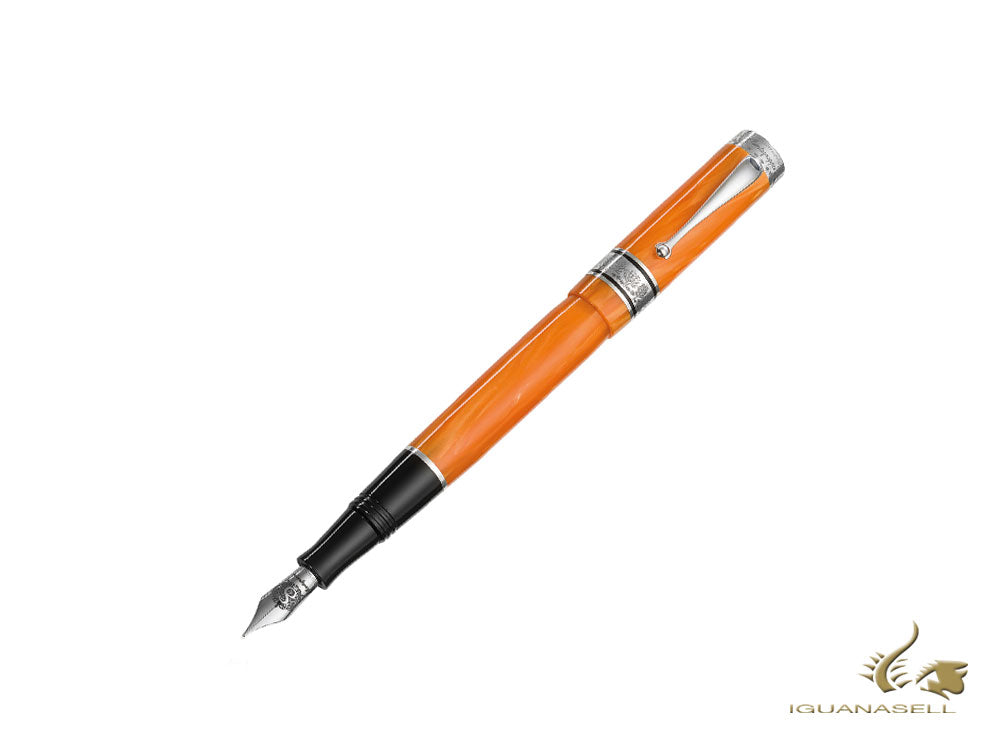 Montegrappa Duchess of York Fountain Pen, Orange, Limited Ed, ISDYN-CO