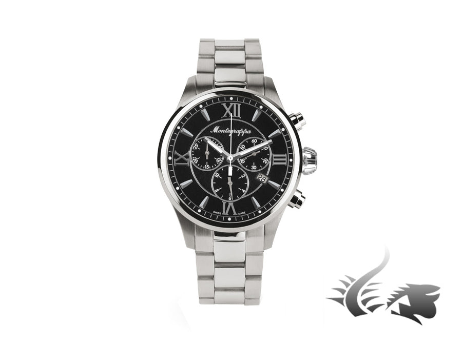 Montegrappa Fortuna Chronograph Quartz watch, Black, 42mm. IDFOWCIC