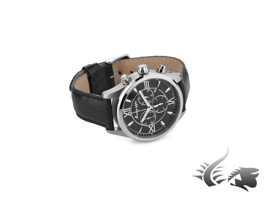 Montegrappa Fortuna Chronograph Quartz watch, Black, 42mm. IDFOWCLC