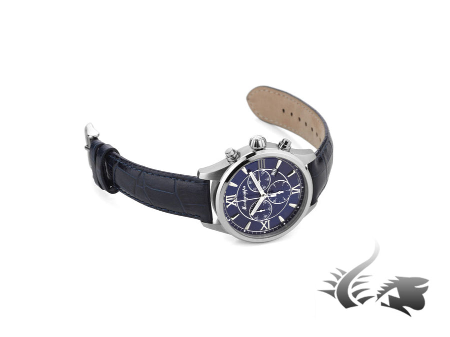 Montegrappa Fortuna Chronograph Quartz watch, Blue, 42mm. IDFOWCDD