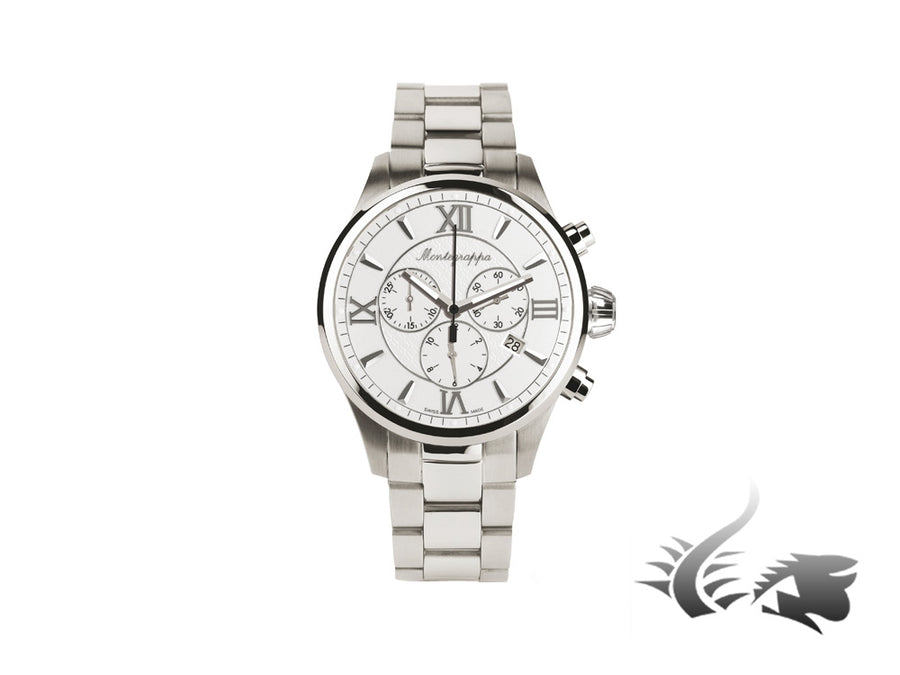 Montegrappa Fortuna Chronograph Quartz watch, Silver, 42mm. IDFOWCIJ