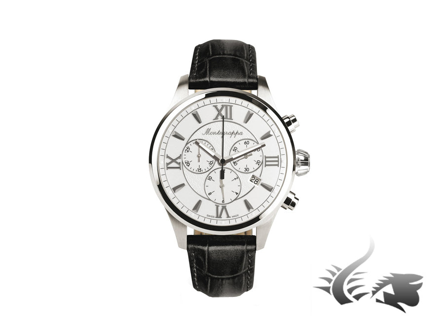 Montegrappa Fortuna Chronograph Quartz watch, Silver, 42mm. IDFOWCLJ