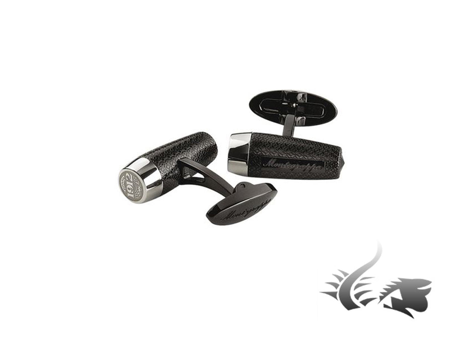 Montegrappa Fortuna Cufflinks, Ion plating black, Stainless Steel, IDFOCLCI Montegrappa Cufflinks