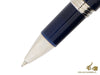 Montegrappa Fortuna Rollerball pen, Blue Resin, Palladium trim, ISFORRPD