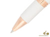 Montegrappa Fortuna Rollerball pen, White resin, Rose gold trim, ISFORRRH