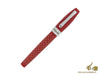 Montegrappa Fortuna Skull Red Fountain Pen, Ruthenium, ISFOS-LD