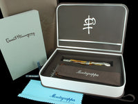 Montegrappa Hemingway 'The writer' Limited. Ed. Fountain Pen, 925 Silver