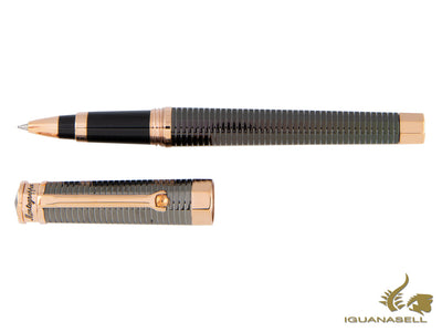 Montegrappa Nero Uno All-Metal Rollerball pen, Rose Gold Trim, ISNLCR4M