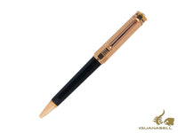 Montegrappa Nero Uno Duetto Ballpoint pen, Black Resin, Rose gold, ISNRDBAC
