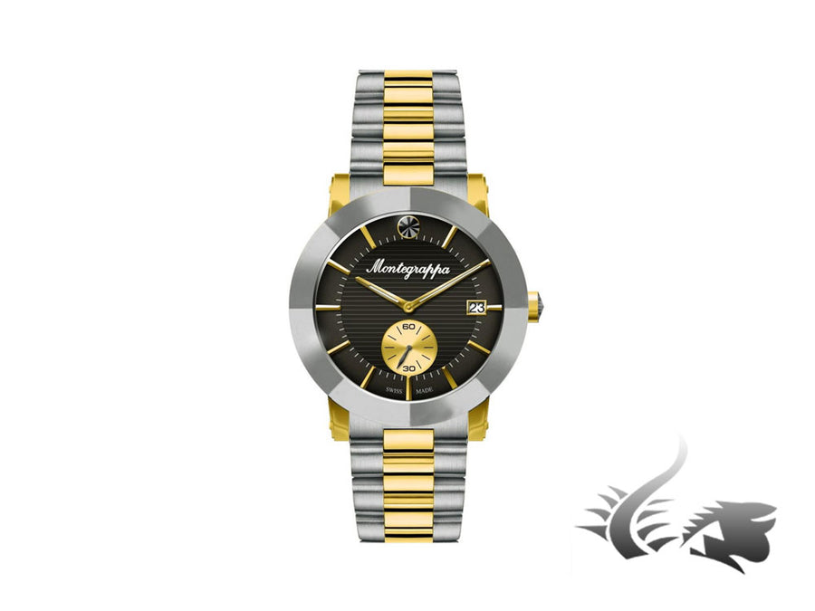 Montegrappa Nero Uno Ladies Quartz watch, Gold PVD, 36mm. 5 atm Montegrappa Quartz Watch