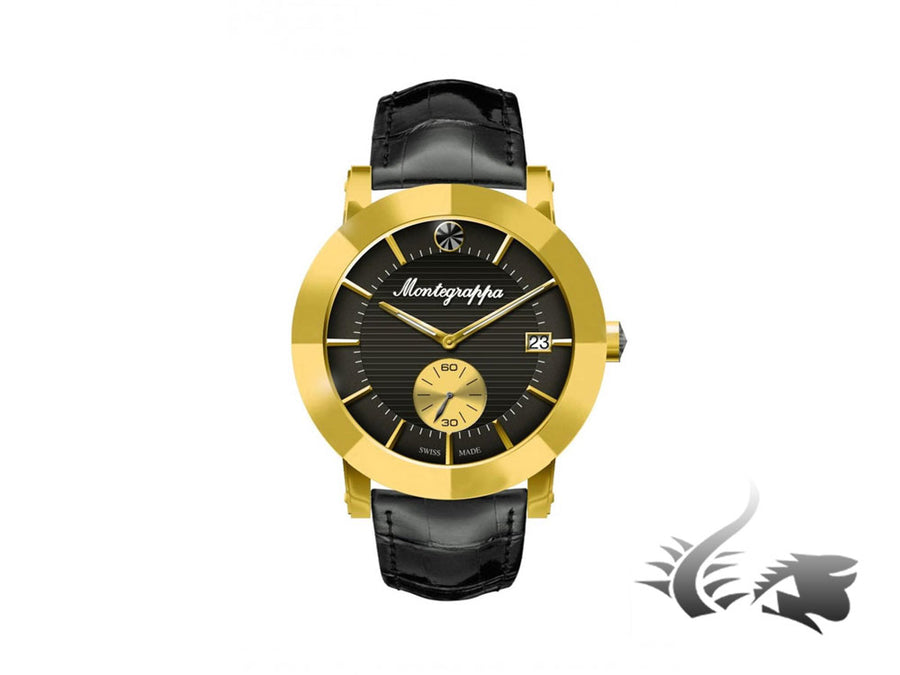 Montegrappa Nero Uno Ladies Quartz watch, Gold PVD, Stainless steel, 36mm. 5 atm Montegrappa Quartz Watch
