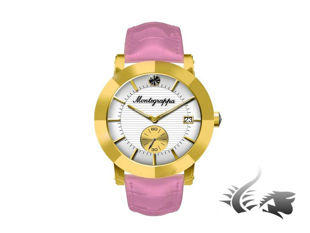 Montegrappa Nero Uno Ladies Quartz watch, Gold PVD, White, 36mm, IDLNWA09-Y