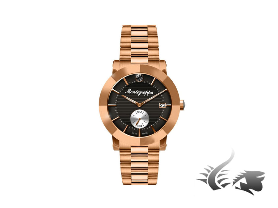 Montegrappa Nero Uno Ladies Quartz watch, PVD rose gold coated Montegrappa Quartz Watch
