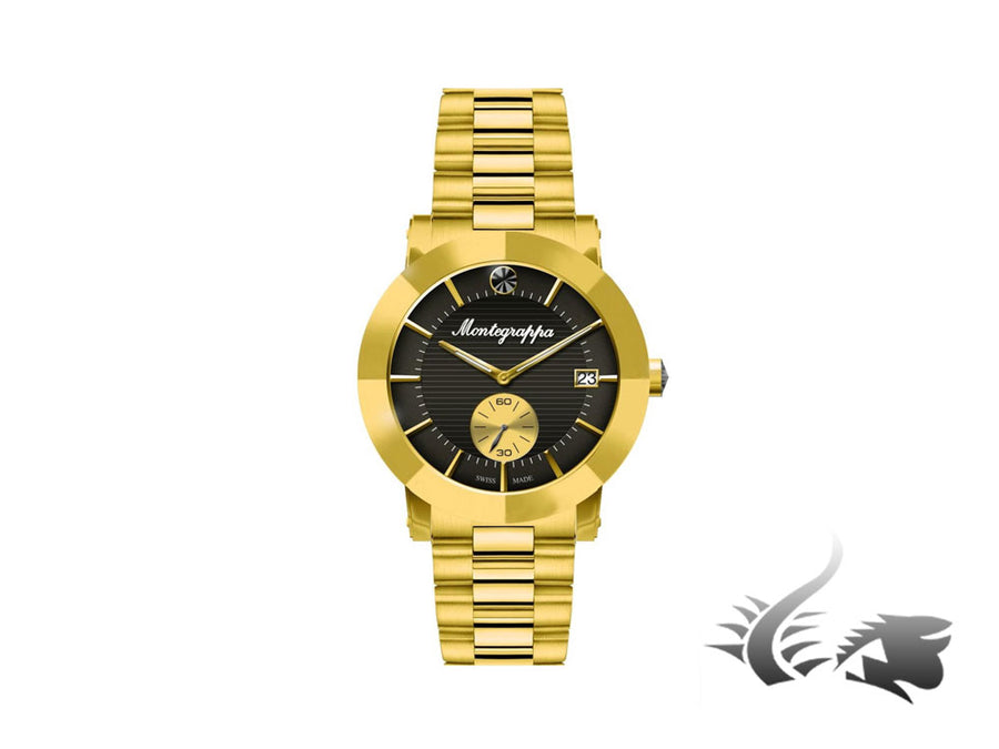 Montegrappa Nero Uno Ladies Quartz watch, Gold PVD, 36mm. 5 atm. IDLNWA13-Y Montegrappa Quartz Watch