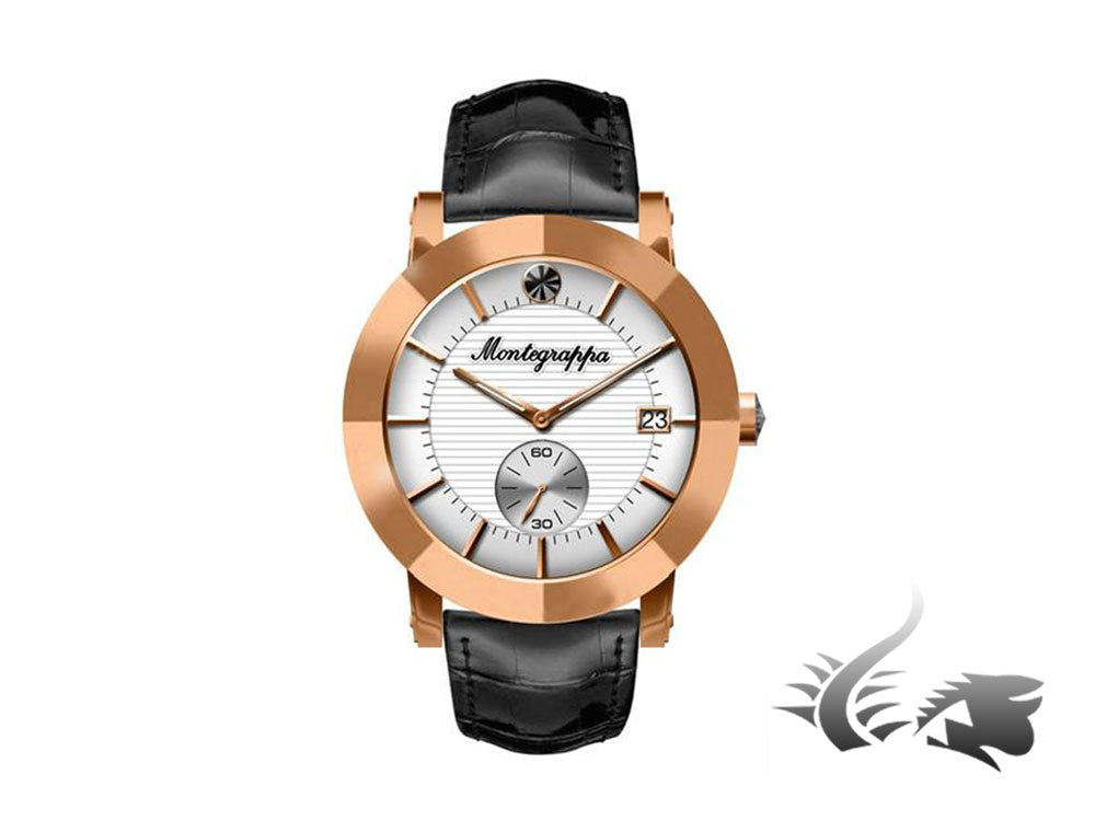 Montegrappa Nero Uno Ladies Quartz watch, White, Rose gold PVD, 36mm, IDLNWA04