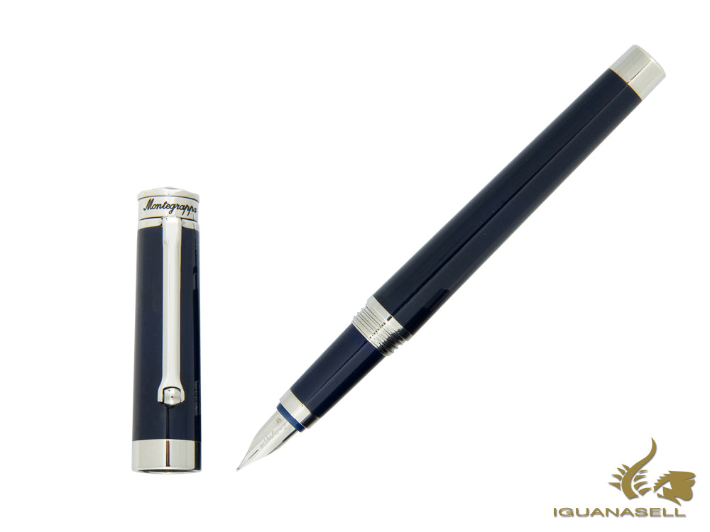 Montegrappa Parola Fountain Pen in Dark Blue Resin ISWOT-AD