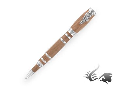 Montegrappa Tirebouchon Limited Ed. Rollerball pen, Oak wood, Sterling silver