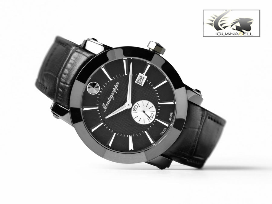 Montegrappa Watch Nero Uno - Swiss Quartz Cal. Ronda 6004 - IDNLWAIB Montegrappa Quartz Watch