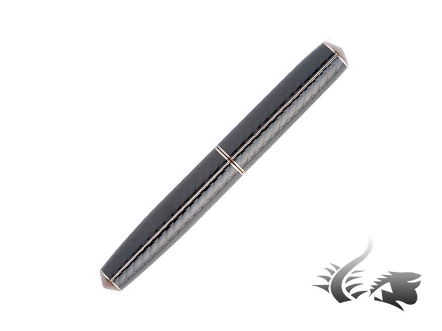 Nakaya Cigar Makie Ajiro 2 Fountain Pen, Black, Piccolo, Ebonite
