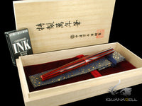 Nakaya Cigar Portable Fountain Pen, Aka-Tamenuri, Decapod, Ebonite