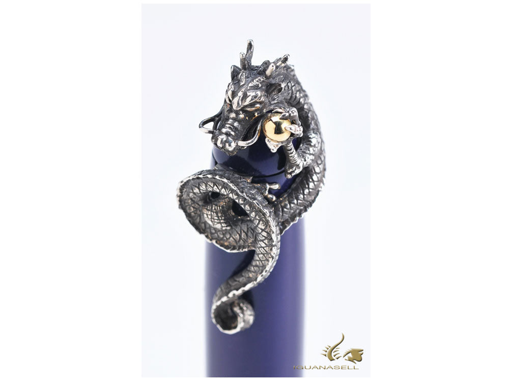 Nakaya Dragon II Stopper, Silver, Gold 18K