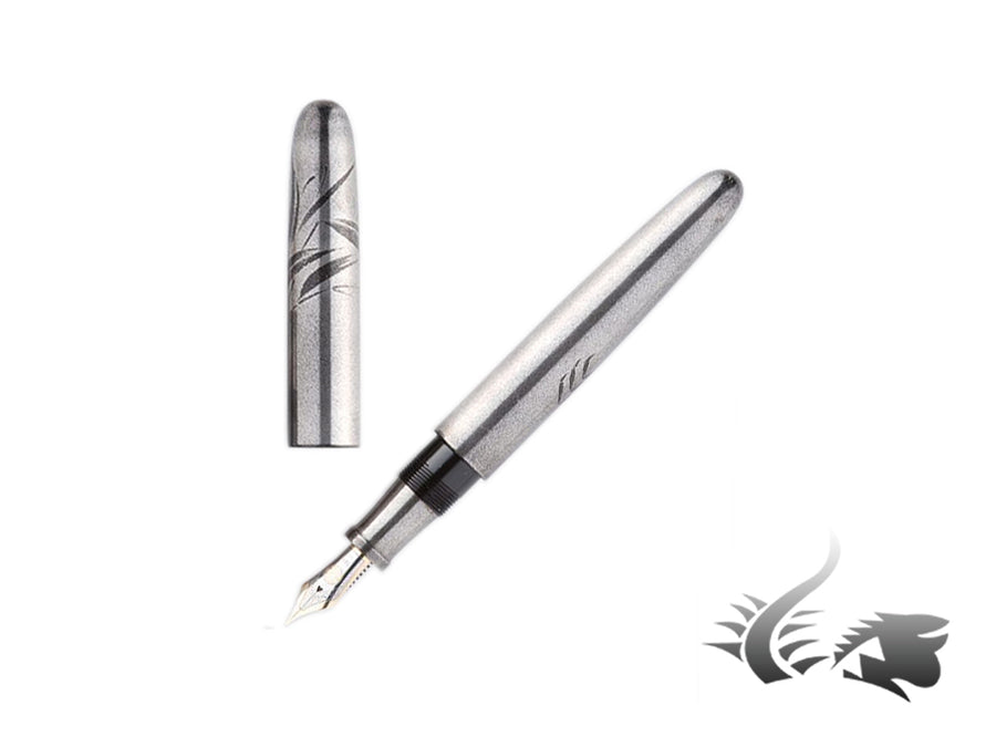 Nakaya Makie Crab Fountain Pen, Silver, Portable, Ebonite