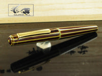 Nakaya Writer Decapod Fountain Pen, Heki Tamenuri, Ebonite and Urushi