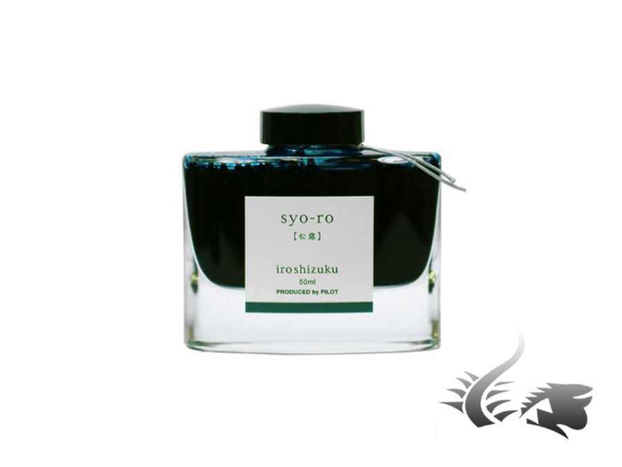 Pilot Ink Bottle Iroshizuku Syo-ro, Green, Crystal, 50ml. INK-50-SY Namiki Ink Bottle