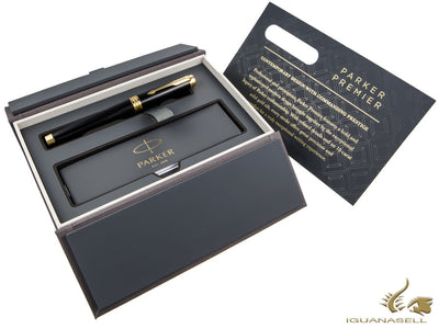 Parker Premier Fountain Pen, Lacquer, Gold Trim, 1931410 Parker Fountain Pen