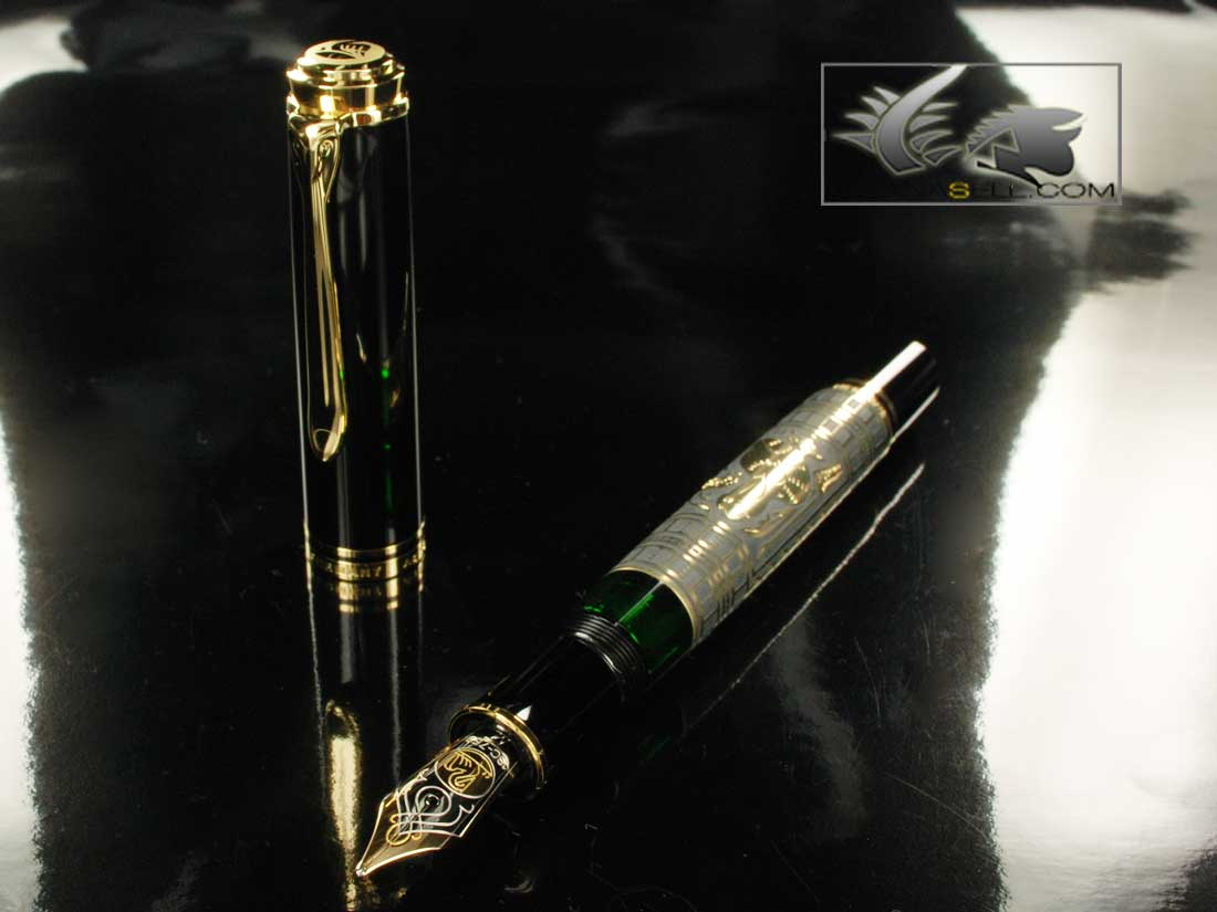 Pelikan Toledo M900 Fountain Pen, Gold, Resin, 921387 Fountain Pen