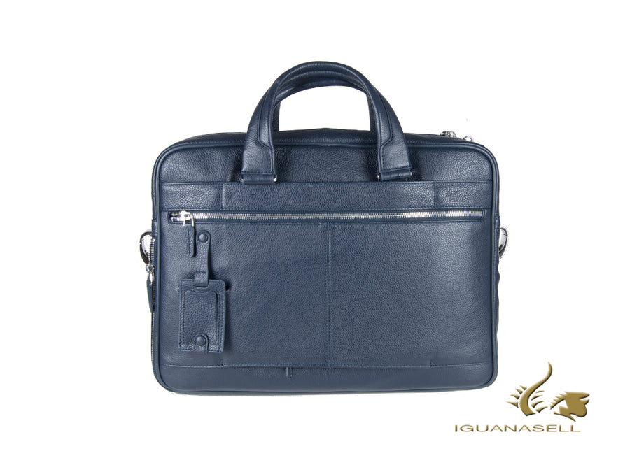 Piquadro Modus Document case, Leather, Blue, Zip, Laptop compartment, CA2849MO Piquadro Document case