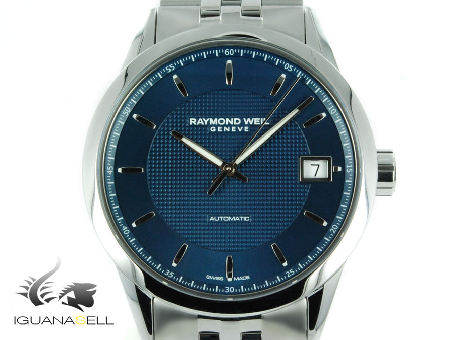 Raymond Weil Freelancer Automatic Watch, Blue, 42,5 mm, Day, 2740-ST-50021