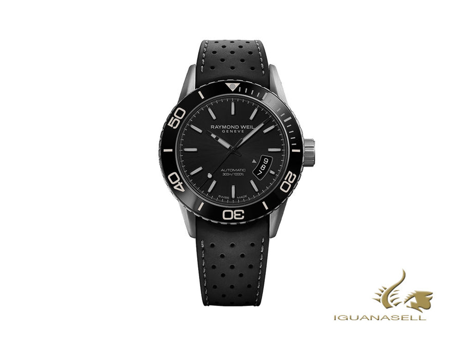 Raymond Weil Freelancer Automatic Watch, PVD, 42,5mm, Black, Ceramic, 30 atm Raymond Weil Automatic Watch