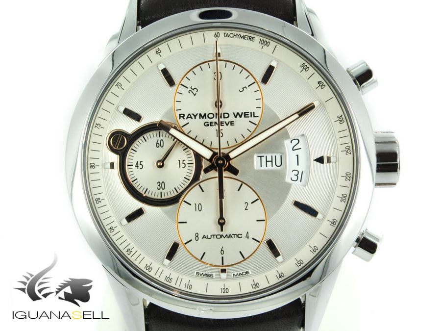 Raymond Weil Freelancer Automatic Watch, Rose gold, Chronograph, Tachymeter