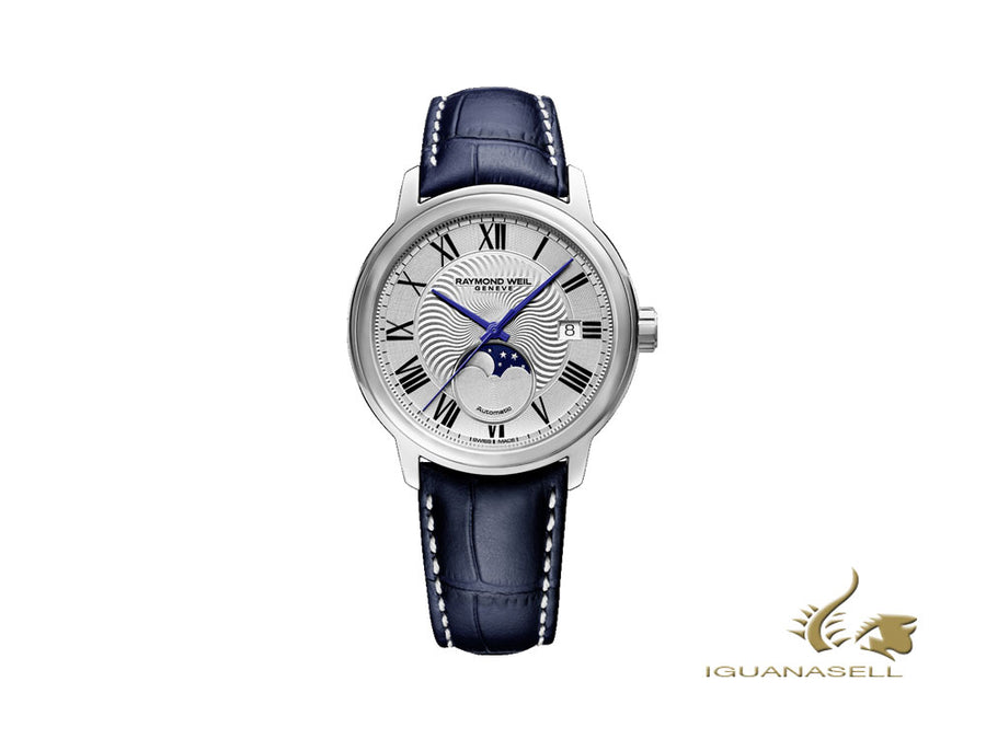 Raymond Weil Maestro Automatic Watch, 40 mm, Day, Moonphase, 2239-STC-00659 Raymond Weil Automatic Watch