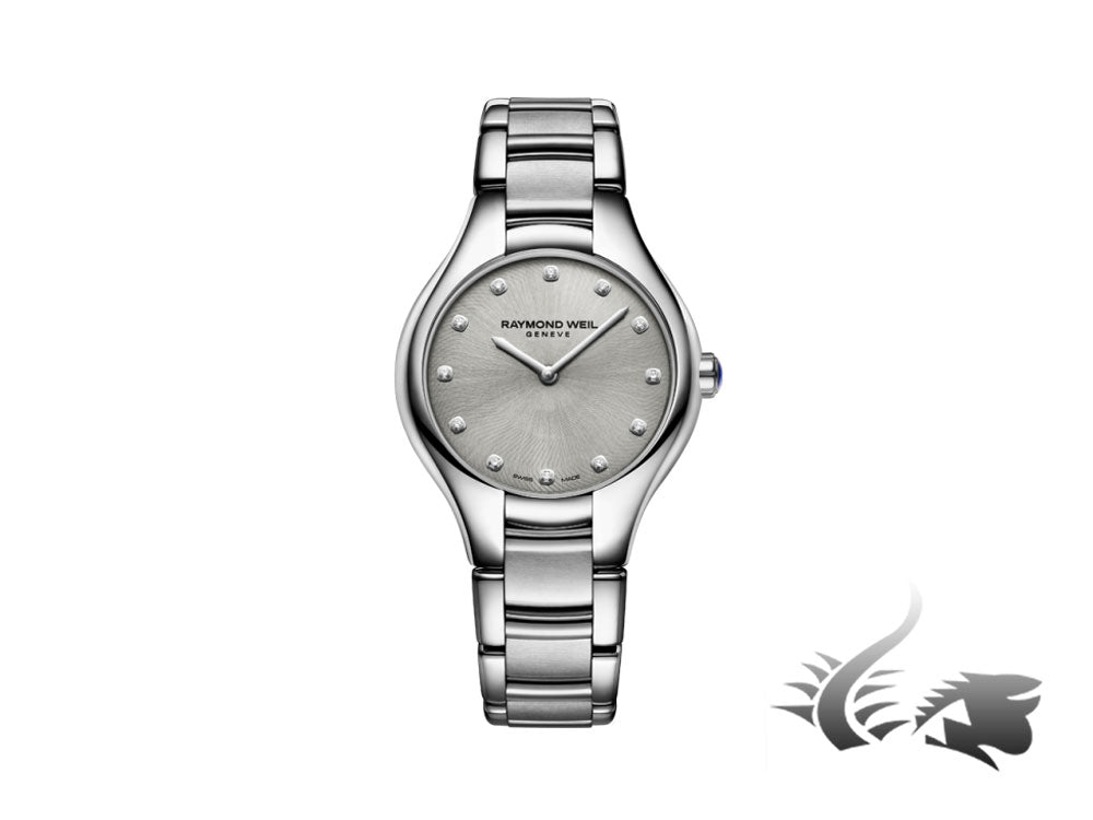Raymond Weil Noemia Ladies Quartz watch, 12 Diamonds, Silver, 5132-ST-65081