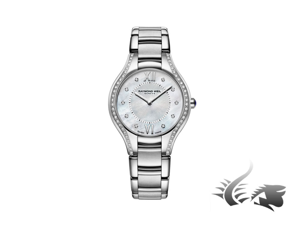 Raymond Weil Noemia Ladies Quartz watch, 62 Diamonds, Mother of Pearl