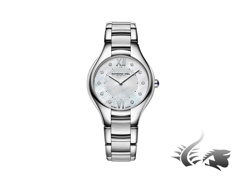 Raymond Weil Noemia Ladies Quartz watch,10 Diamonds, Mother of Pearl