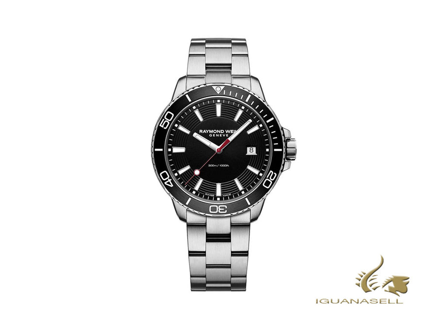 Raymond Weil Tango 300 Quartz Watch, Black, 42mm, Day, 8260-ST1-20001 Raymond Weil Quartz Watch
